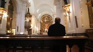 man praying in catholic church stock video footage videoblocks