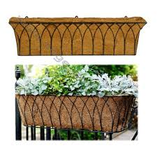 Wrought Iron Wall Planters by Wrought Iron Window Flower Box Wrought Iron Window Flower Box