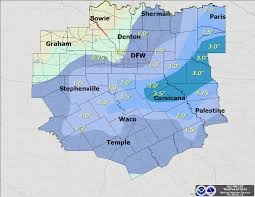 Fort Worth Map Snow Dfw Weather News And Blog