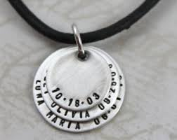Mens Personalized Necklace Mens Personalised Etsy Au