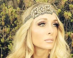 jeweled headbands jeweled headband etsy