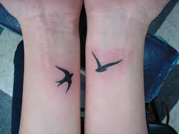 small bird wrist tattoos for