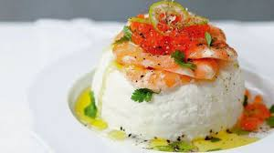 cuisiner pour amoureux fromage frais aux crevettes et oeufs de saumon l express styles