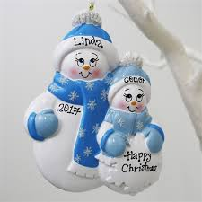 personalised ornament snowman family personalised