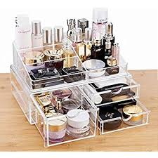 hair and makeup organizer cq acrylic large 3 drawers and 9 grid makeup organizer with