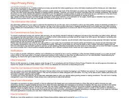 awesome privacy policy sample template images resume samples