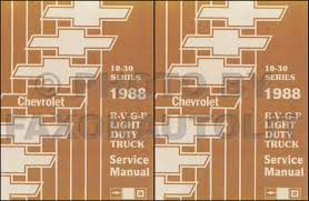 1988 chevy 1 2 3 4 u0026 1 ton truck overhaul manual original
