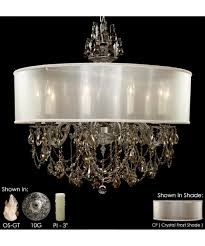Ivory Chandelier American Brass And Crystal Ch6562 Llydia 32 Inch Wide 10 Light