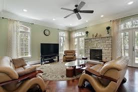 living room recessed lighting false ceiling black sectional sofa