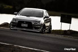 mitsubishi evo 2016 stance dark evo mitsubishi lancer evolution turbo stance cool cars