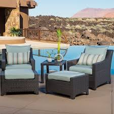 Overstock Patio Chairs Rst Brands Bliss 5 Club Chairs And Ottomans Patio Set Free