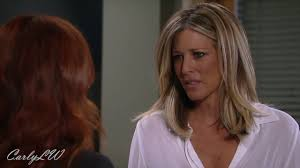 carlys haircut on general hospital show picture gh carly scenes on 9 7 17 part 3 youtube