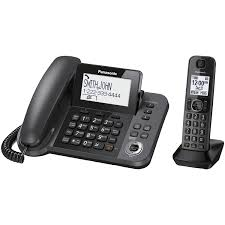 panasonic 1 handset dect 6 0 corded cordless phone with answering