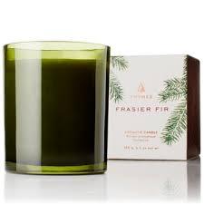 thymes frasier fir thymes frasier fir green glass candle ilitch