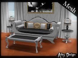 victorian sofa set designs second life marketplace mesh victorian sleigh sofa set living room