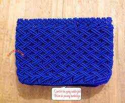 cara akhir membuat tas dari tali kur membuat kerajinan handmade rajut