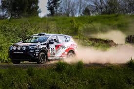 toyota rally car revamped toyota rally rav4 competes in oregon trail rally the