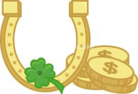 gold shoe horse coins and clover leaf on st patrick u0027s day