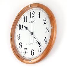 seiko clocks wooden wall clock radio controlled qxr303z watch