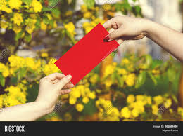 tet envelopes give money envelopes ang image photo bigstock