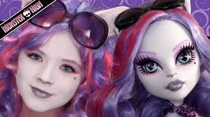 catrine demew monster high doll costume makeup tutorial for