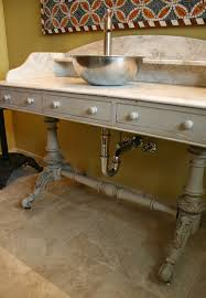 bathroom ideas repurposed sink console yes button say to god