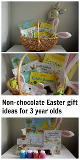 what to put in a non chocolate easter basket for a three year old