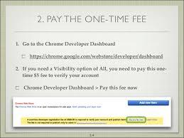 chrome google webstore publishing to the chrome web store