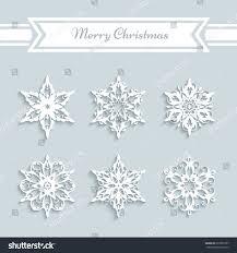 cutout paper snowflakes set vector snowflake stock vector