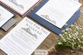 Wedding Invitations Rustic Charlotte Mountain Wedding Invitation Suite All That Glitters