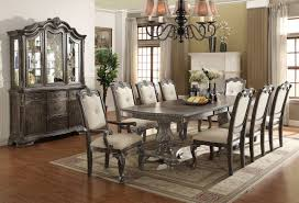dining room set with hutch kiera antique gray oak dining table set