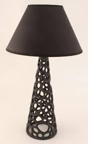 coral table lamp colour black lillesand design as