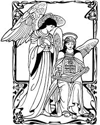 angel appears to mary coloring pages bulk color