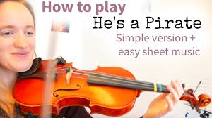 how to play he s a pirate of the carribean easy