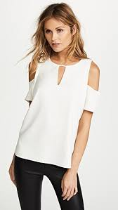 shoulder blouse cooper ella sleeve cold shoulder blouse shopbop