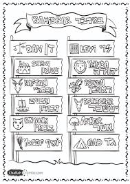 coloring page parshat bamidbar click on picture to print