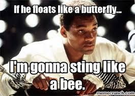 Will Smith Meme - smith meme ali sting like a bee