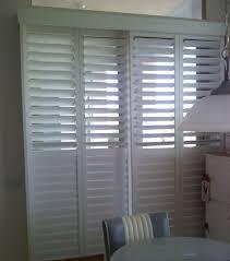kitchen white plantation shutters for sliding glass doors window