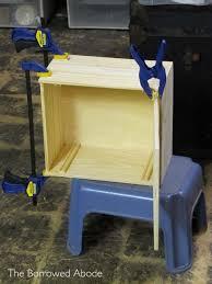 Wooden Crate Nightstand How To Wine Crate Nightstand The Borrowed Abodethe Borrowed Abode