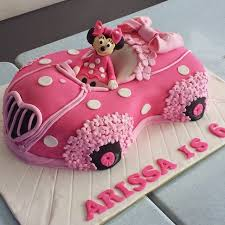 minnie mouse cake linascakes baked by minnie mouse car cake in pink