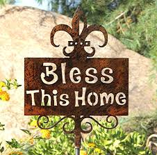 bless this home yard decor new home yard decoration outdoor