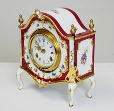 German Clocks Porcelain Clocks Germany Porcelain German Mantle Clock By Ak