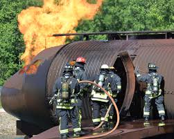 wright patterson afb firefighters validate skills through live