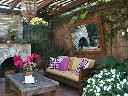 rustic summer backyard ideas which is equipped with gorgeous sofa