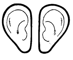 Pages Of Ears Ear Coloring Page