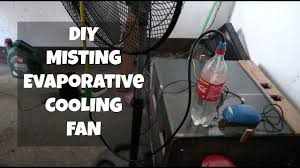 Homemade Outdoor Misting System by Diy Evaporative Misting Cooler Fan Youtube