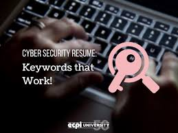 Scannable Resume Keywords Cyber Security Résumé Keywords That Work