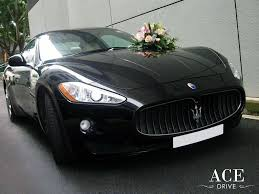 maserati coupe white maserati granturismo wedding cars decorations