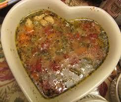 Mediterranean Style Food - chunky chicken soup mediterranean style