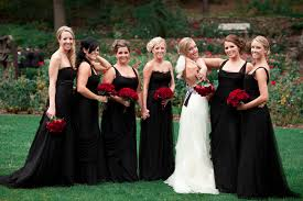 wedding bridesmaid dresses make black bridesmaid dresses bright